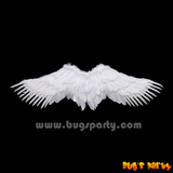 White color feather span angel wings