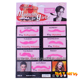 pink fake party mustache for girls
