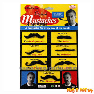 fake party mustache set for men