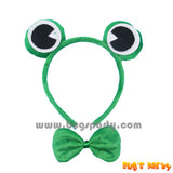 Frog costume accessories, frog head band and bow tie