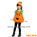Pumpkin tunic dress with hat