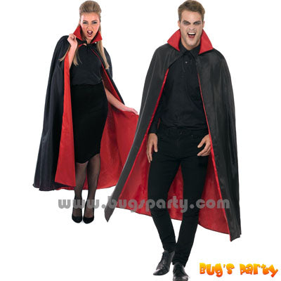Vampire red black cape, cloak for Halloween