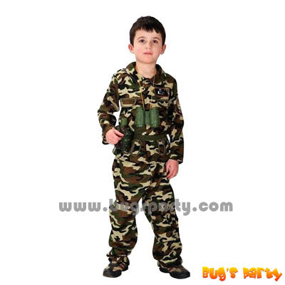 camouflage army boy costume