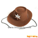 Plastic Brown Color Sheriff Hat