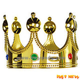 Gold color king crown