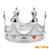 Silver color king crown