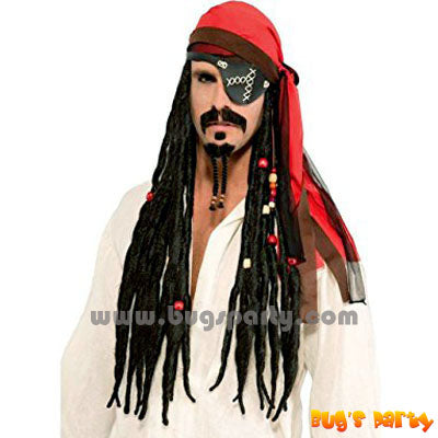 Pirate Headscarf Wig W Dreads