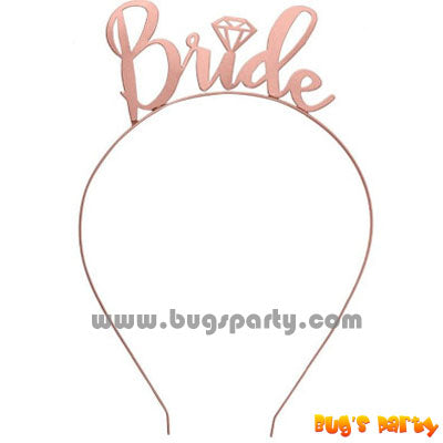 Bride rose gold hairband