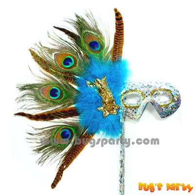 Peacock Sequin Hand Mask