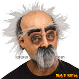 Old man mask with grey hair and beard