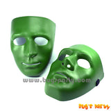 Full Face Green Plastic Mask