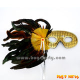Tinsel Danglers Feather Mask