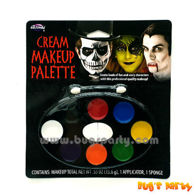 Halloween 8 colors make up palette
