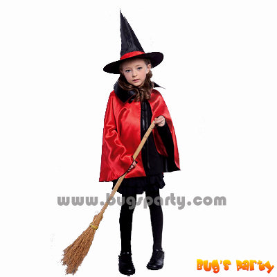 Red witch cape with hat