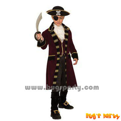 Buccaneer Captain Boy Costume