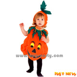 Pumpkin tunic dress with hoody