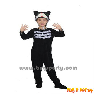 black cat animal costume for kids