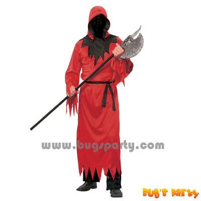 Red ghoul hooded costume