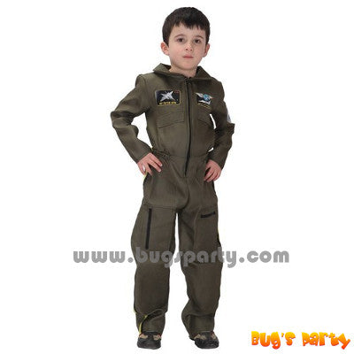 Air force pilot occupational costume for kids