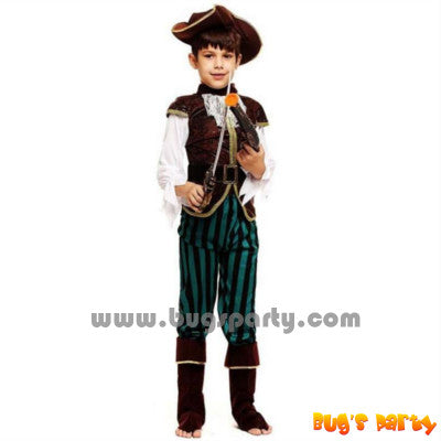 caribbean pirate boy costume with hat
