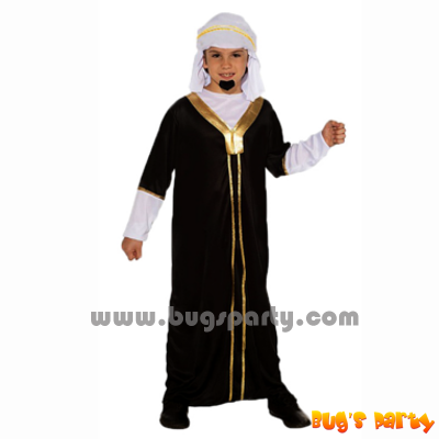 Arabian prince black robe costume