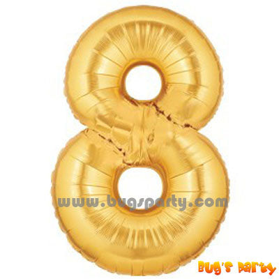 Gold 8 Shaped Number Balloon