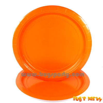 Orange color paper Plates