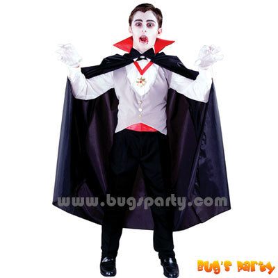 Boys Classic Vampire cape for Halloween