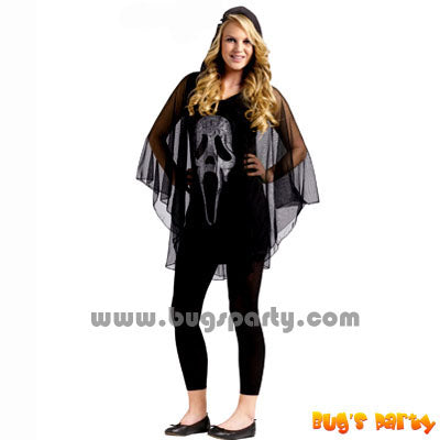 Costume Ghost Face Poncho