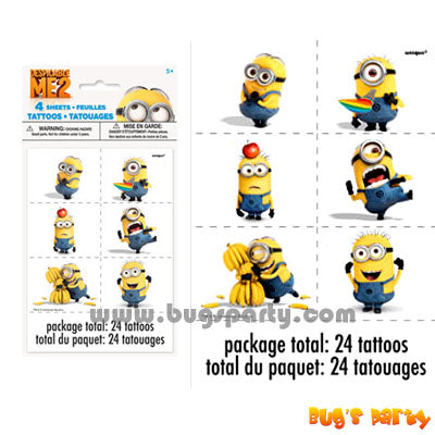 Despicable Me Temp Tattoos