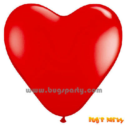 Balloon Latex Red Hrt