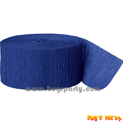 Crepe Streamer Royal Blue