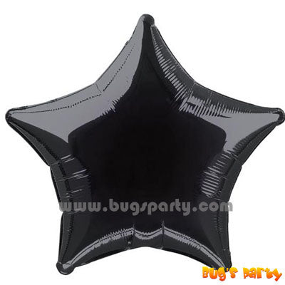 Black color star shaped balloon