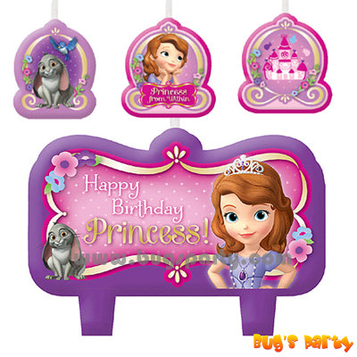 Sofia The First Candles Set