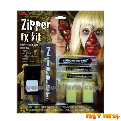 Halloween Makeup Zipper