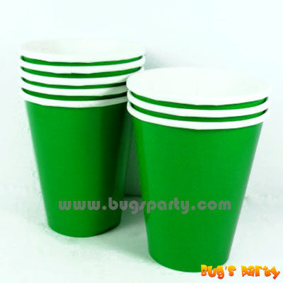Festive Green color paper Cups