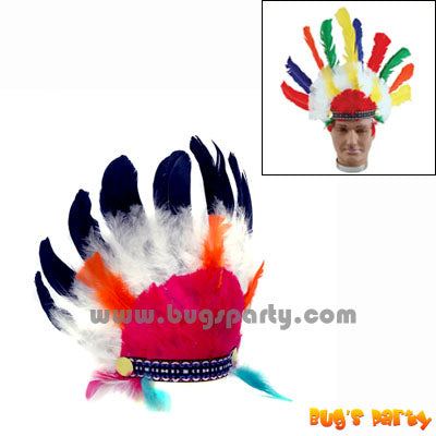 Red Indian Head Dress S