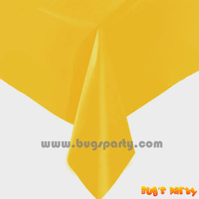 Yellow Sunshine color plastic Table Cover