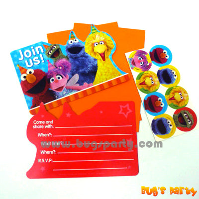 Sesame Street Invitation