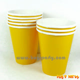 Yellow Sunshine color paper Cups