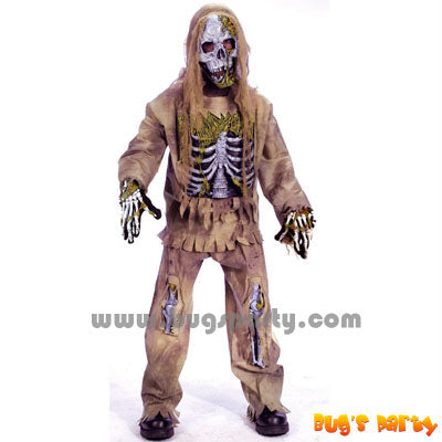 Costume Skele Zombie Chd