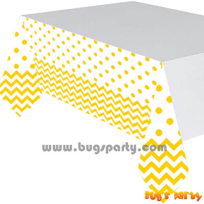 Yellow Chevron Table Cover