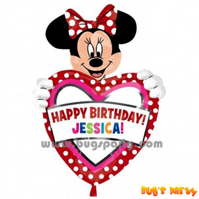 Minnie Personalise Balloon