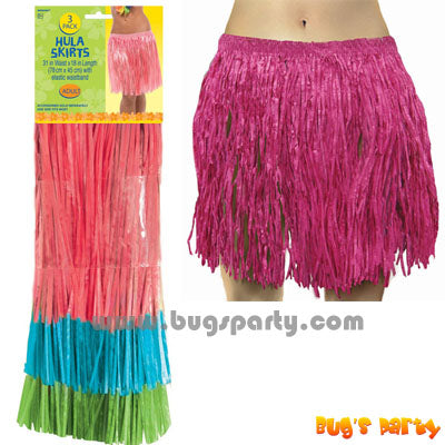 3 Hula Skirts 3 colors