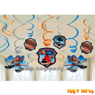 Disney Planes Swirls Deco