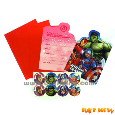 Avengers Invitation Cards
