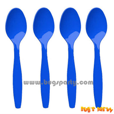 Blue color Plastic Spoons