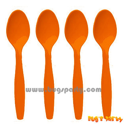 Orange color Plastic Spoons