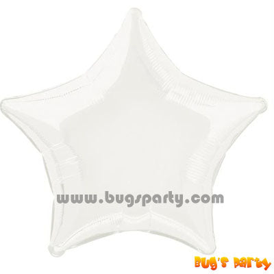 White Star shaped balloon