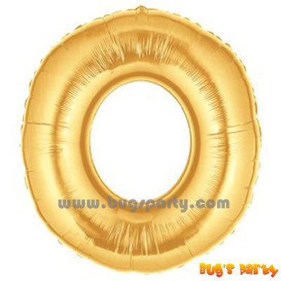 Number 0 Shaped Gold Color Balloon